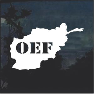 OEF Window Decal Sticker