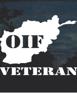 OIF Veteran Window Decal Sticker