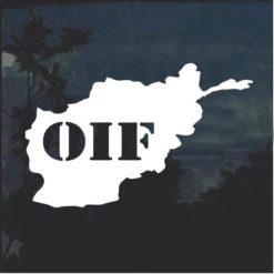 OIF Window Decal Sticker
