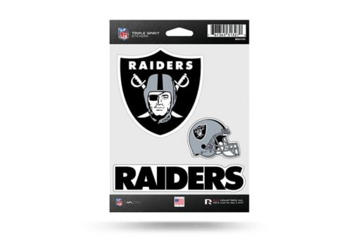 Oakland Raiders Window Decal Sticker Set Officially Licensed NFL