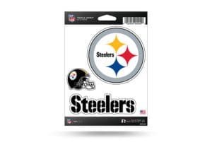 Pittsburgh Steelers Window Decal Sticker Set Officially Licensed NFL