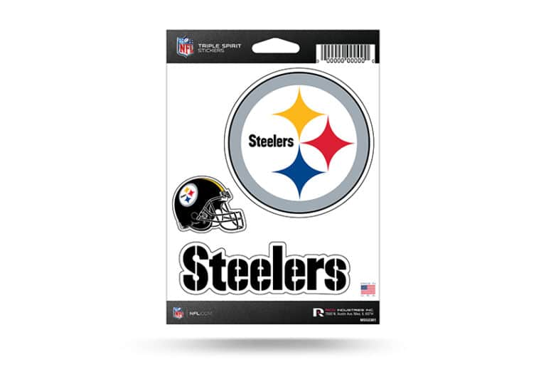 NFL Football Pittsburgh Steelers Window Decal Sticker Set Officially