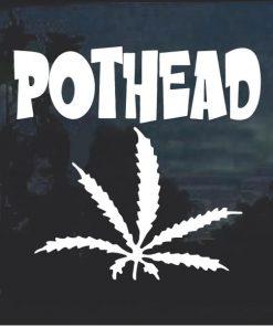 Pot Head Marijuana Cannabis Window Decal Sticker a2