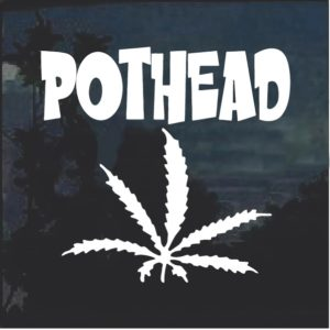 Pot Head Marijuana Cannabis Window Decal Sticker a2