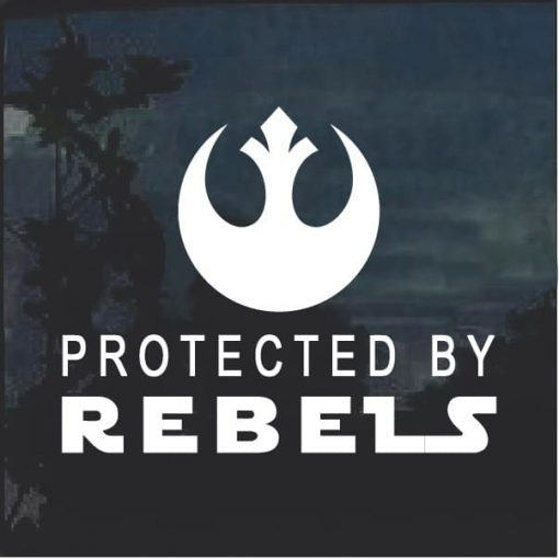 Protected by Rebels Window Decal Sticker