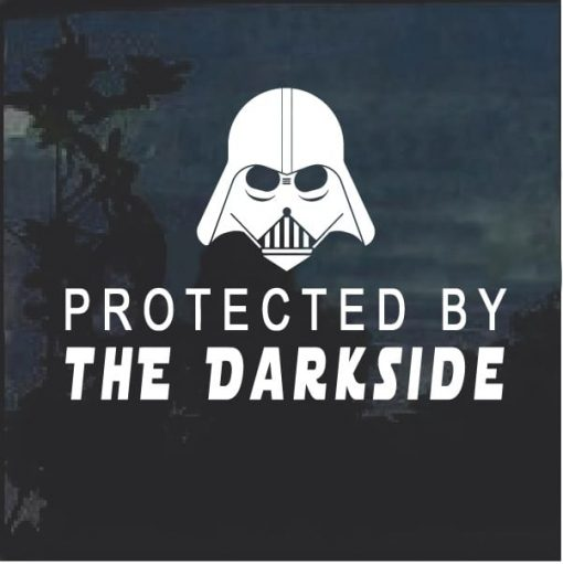 Protected by the Dark Side Darth Vader Window Decal Sticker
