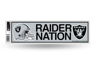 Raider Nation Oakland Bumper Sticker Officially Licensed NFL