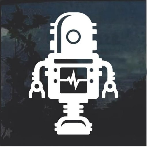 Robot sci fi window decal sticker a2