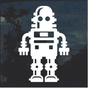 Robot sci fi window decal sticker a3