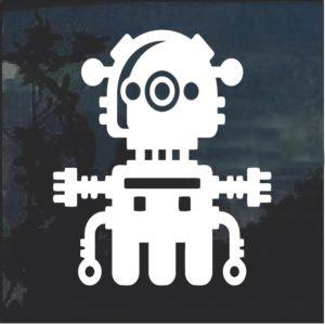 Robot sci fi window decal sticker a4
