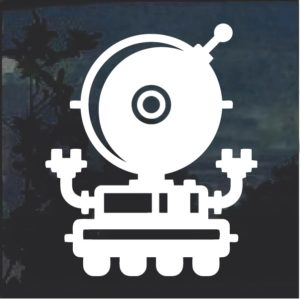 Robot sci fi window decal sticker a5