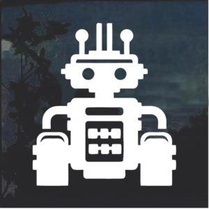 Robot sci fi window decal sticker a6