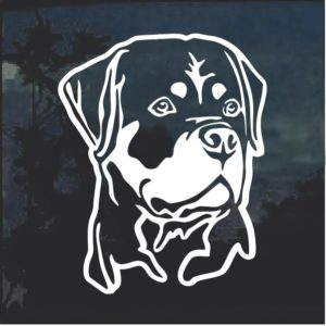Rottie Rottweiler Head Dog Window Decal Sticker