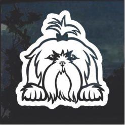 Shih Tzu Peeking Dog Window Decal Sticker