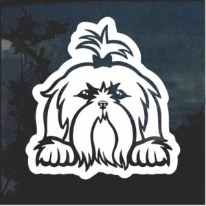 Shih Tzu Peeking Dog Window Decal Sticker