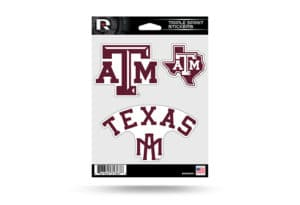 Texas A&M Window Decal Sticker Set Officially Licensed