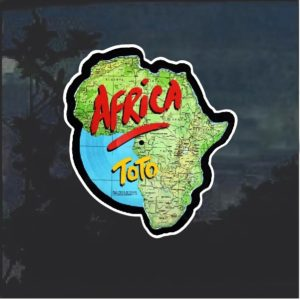 Toto Africa Full Color Window Decal Sticker