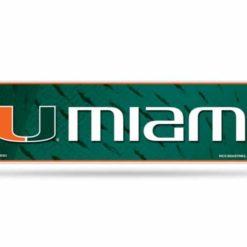 University of Miami Bumper Sticker Officially Licensed