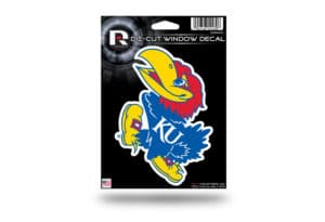 KU Jayhawks Window Decal Sticker Officially Licensed