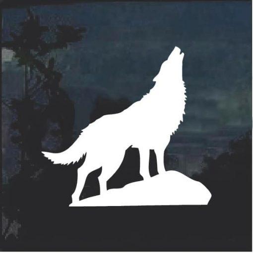 Wolf Howling Window Decal Sticker a3