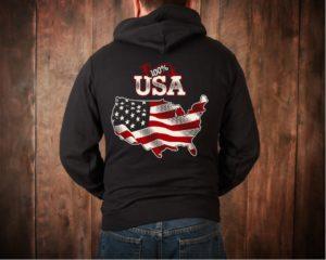 100 Percent USA American Flag Hoodie