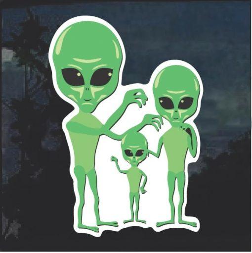 Alien Family Window Decal Sticker