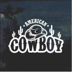 American Cowboy hat and boots decal sticker