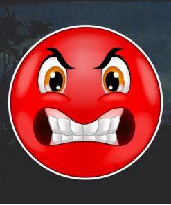 Angry Emoji Decal Sticker a1