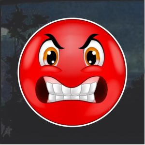 Angry Emoji Decal Sticker a1