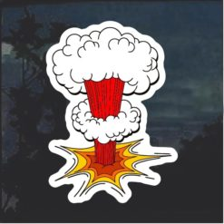 Atom Bomb Decal Sticker