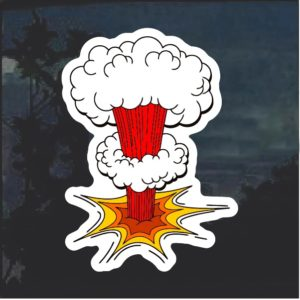 Atom Bomb Decal Sticker