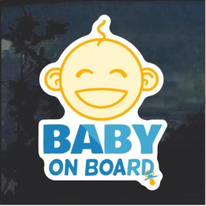 Baby on Board face Window Decal Sticker