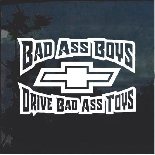 Bad Ass Boys Chevy 3 Window Decal Sticker