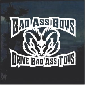 Bad Ass Boys Dodge 3 Window Decal Sticker