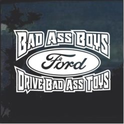 Bad Ass Boys Ford 2 Window Decal Sticker