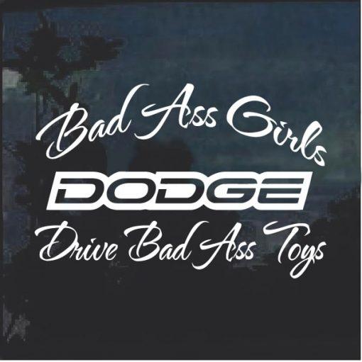 Bad Ass Girls Dodge 2 Window Decal Sticker