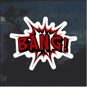 Bang Comic Decal Sticker