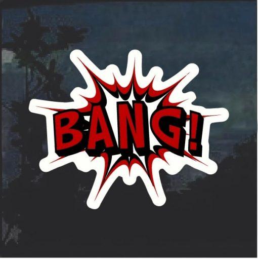 Bang Comic Decal Sticker