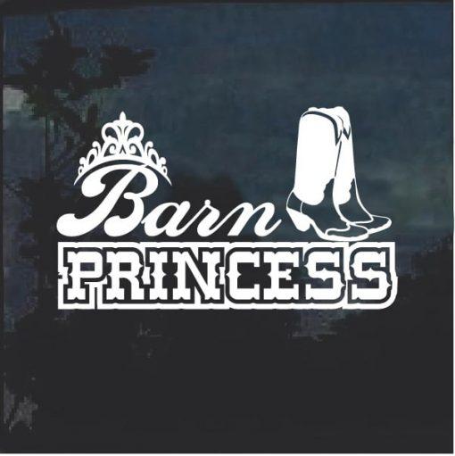 Barn Princess Window Decal Sticker