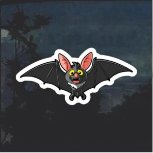 Bat Cartoon Window Decal