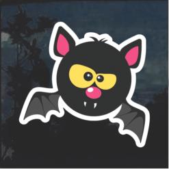 Bat Emoji Window Decal Sticker
