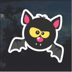 Bat Emoji Window Decal Sticker