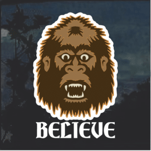 Big Foot Head Window Decal Sticker