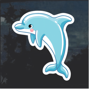 Blue Dolphin Window Decal Sticker