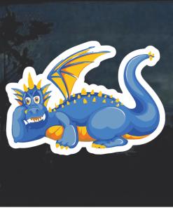 Blue Dragon Window Decal Sticker