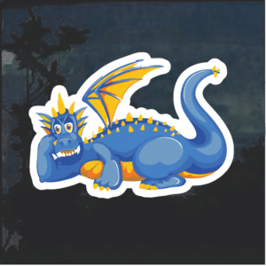 Blue Dragon Window Decal Sticker