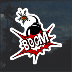 Boom Bomb Comic Decal Sticker