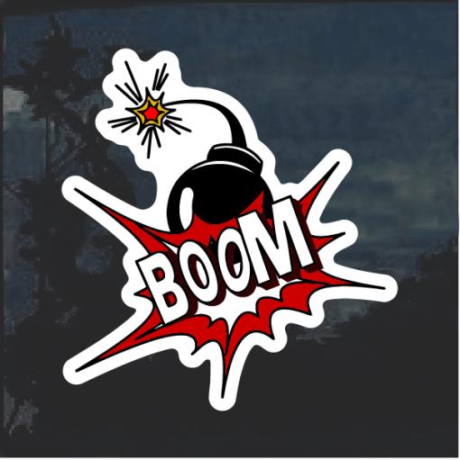 Boom Bomb Comic Decal Sticker