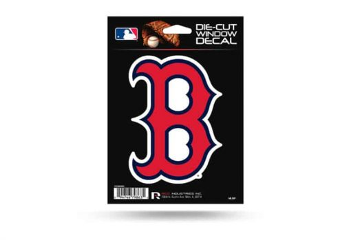 Boston Redsox B Window Decal Sticker Officially Licensed MLB