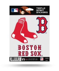 Boston Red Sox Window Decal Set Sticker Officially Licensed MLB